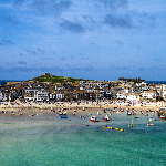 views of boats at St Ives harbour